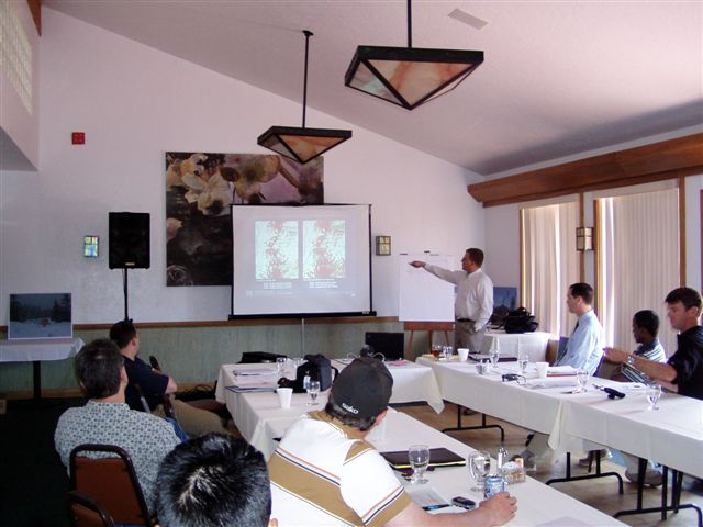 Conference room during 2006 technical presentations.