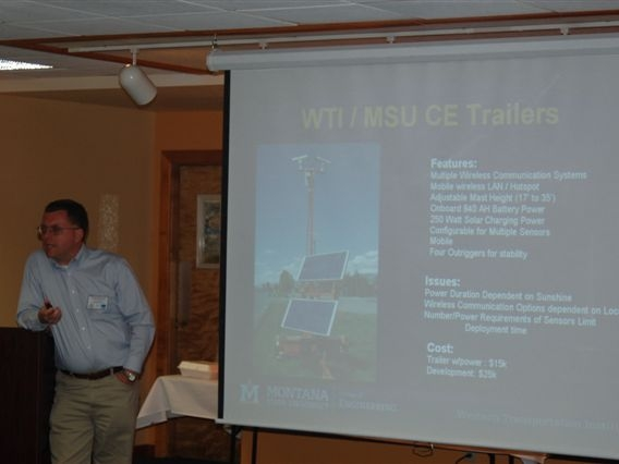 Doug Galarus, WTI, gave an overview of TMC to TMS communication systems.