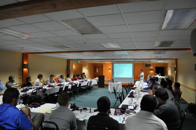 Conference room during 2009 technical presentations.